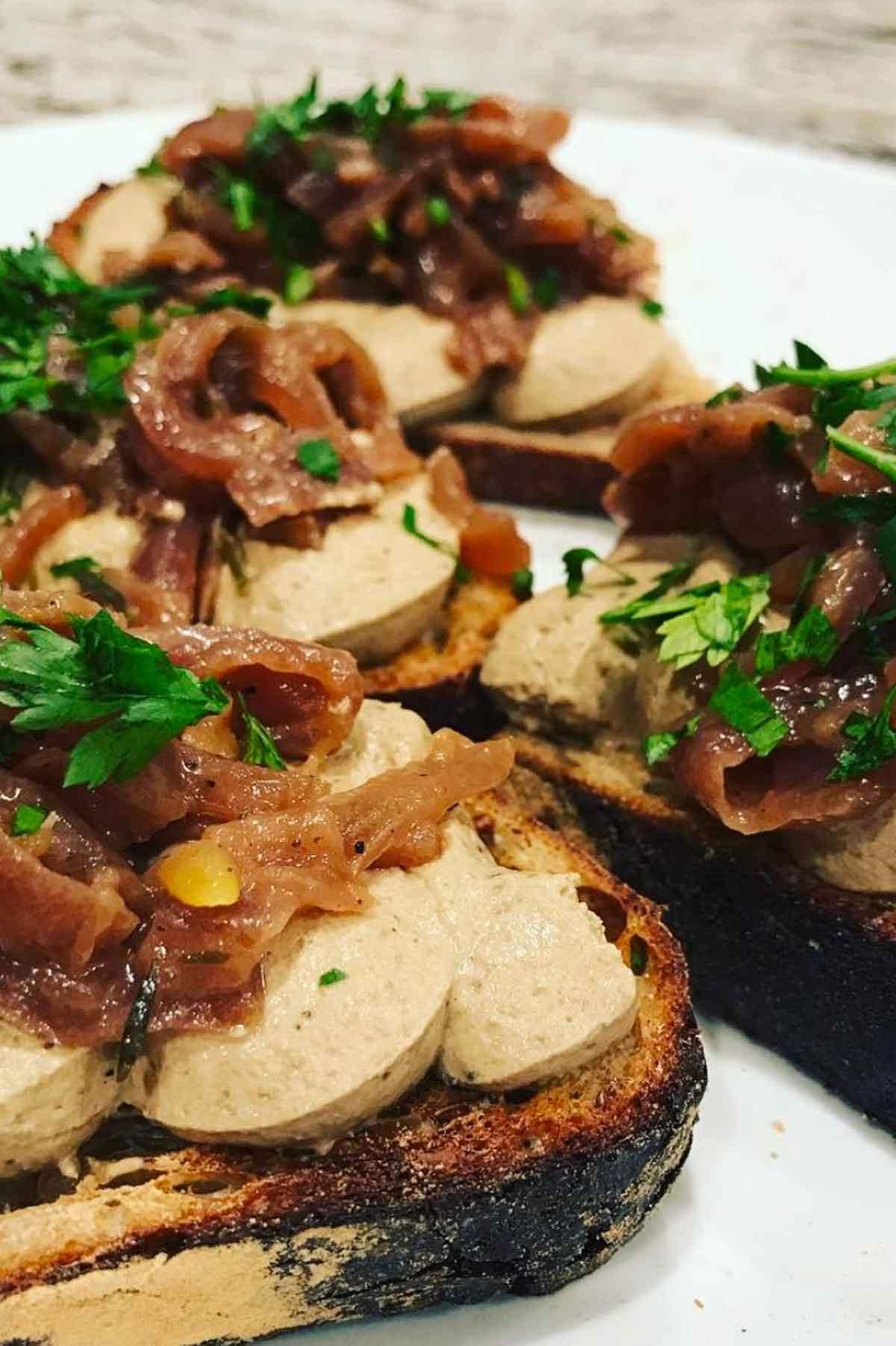 Rabbit Liver Pâté with Slow Onions