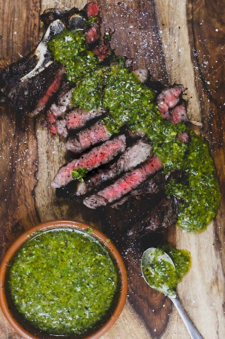 Argentinian Chimichurri Sauce with Steak