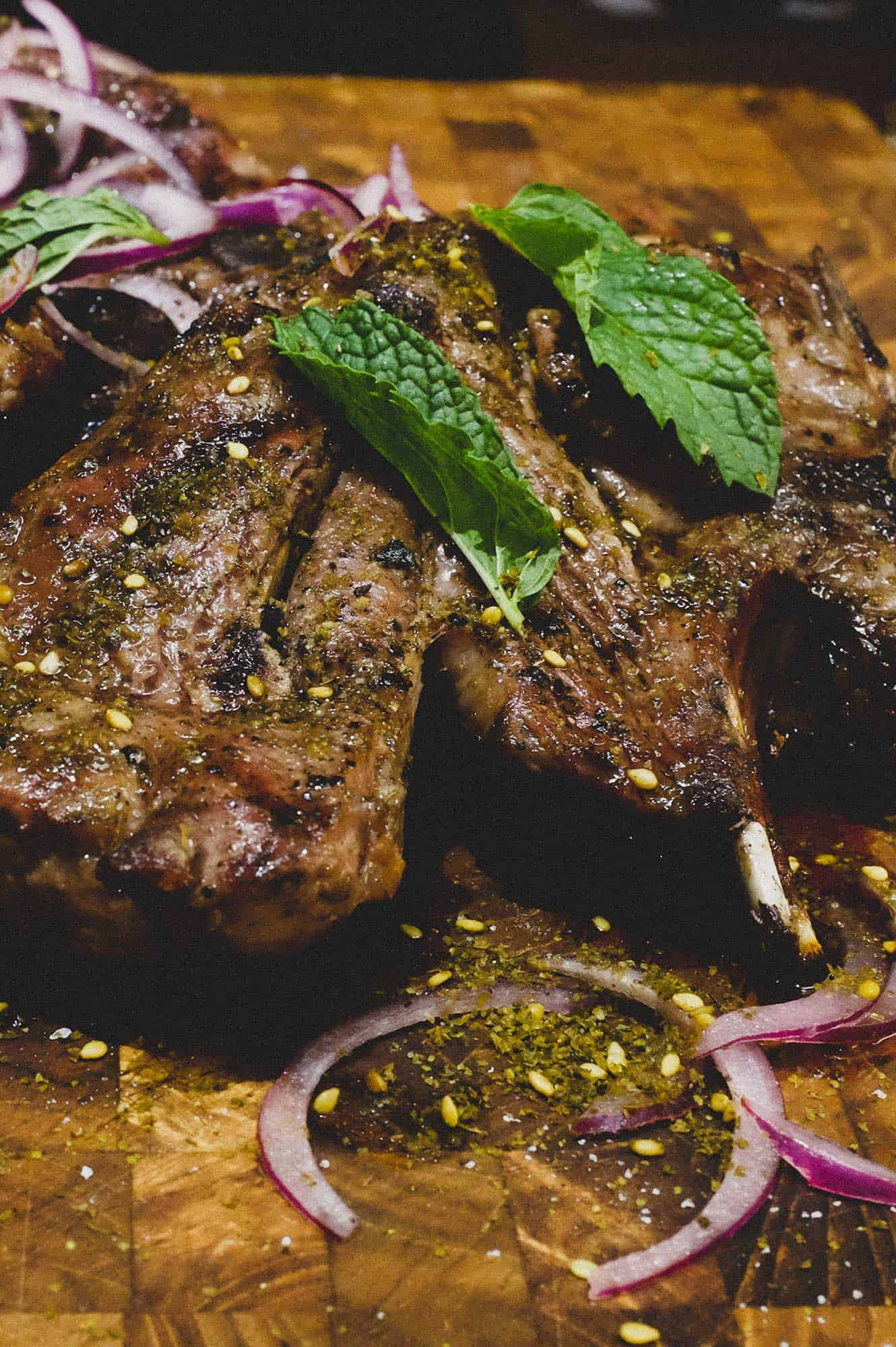Grilled lamb with Za'atar & Onion