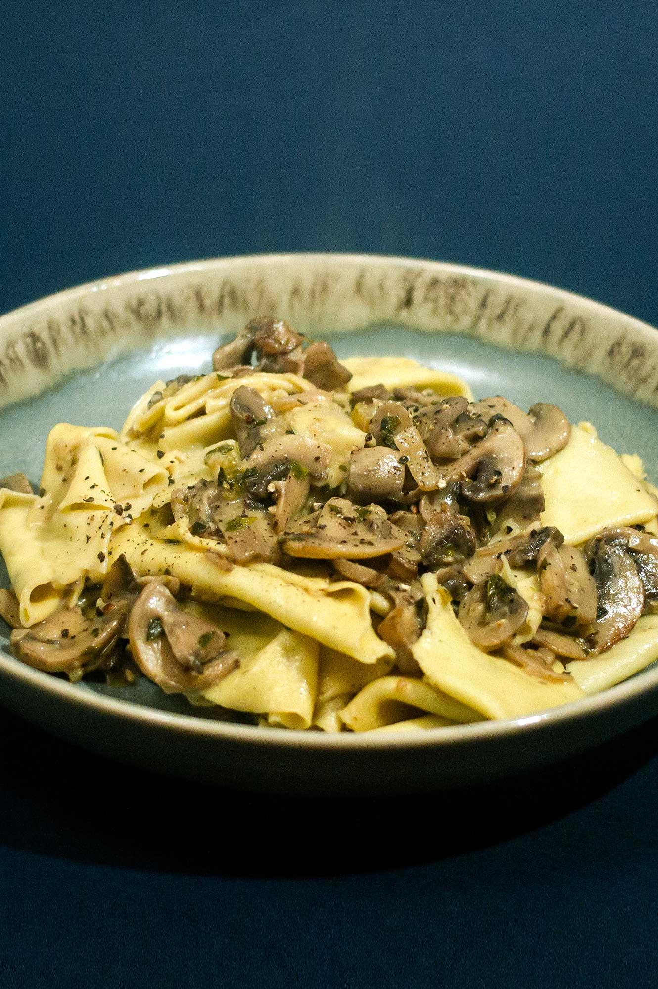 Mushroom Ragu with Torn Pasta