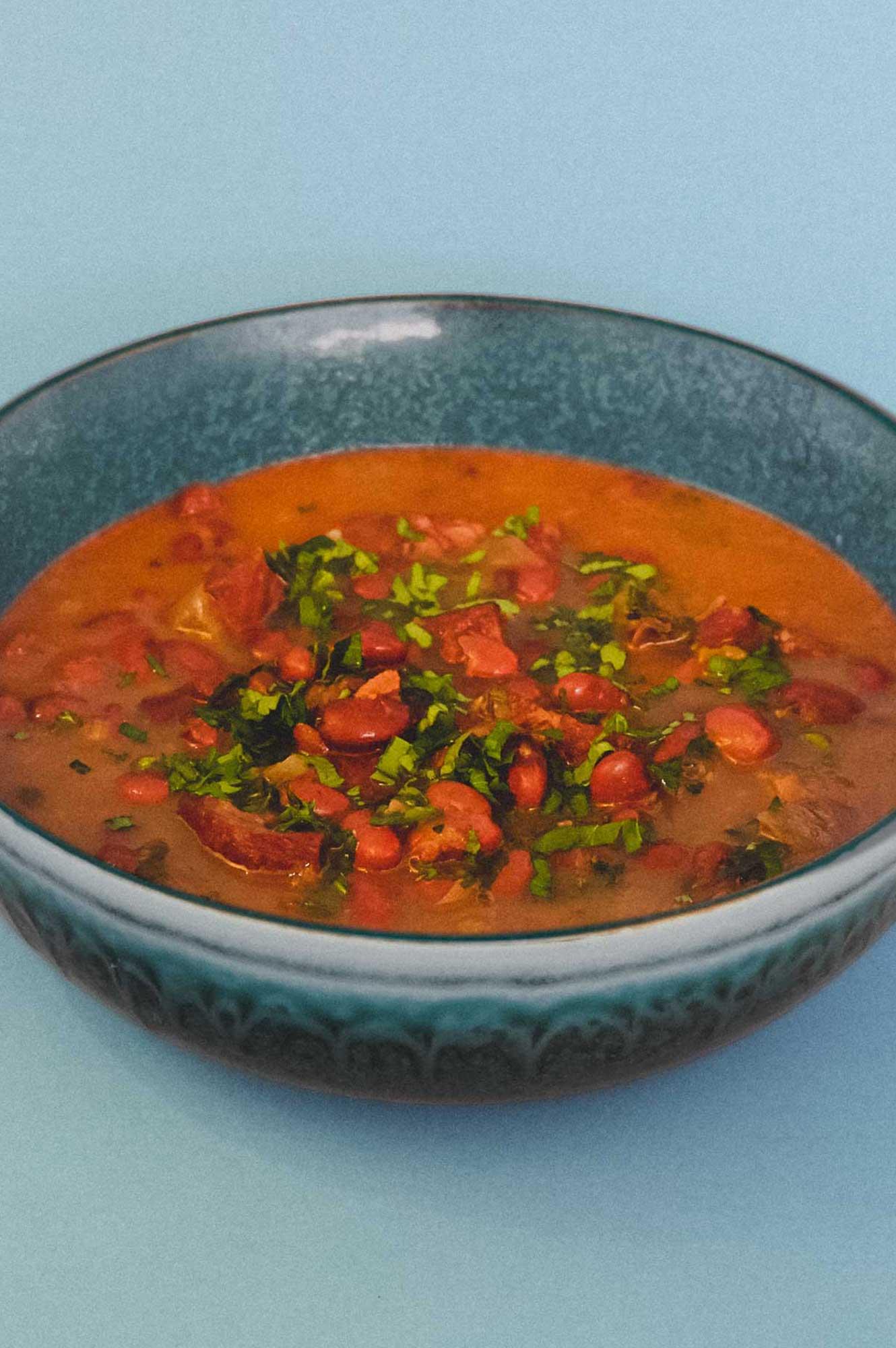 Red Bean & Salami Soup