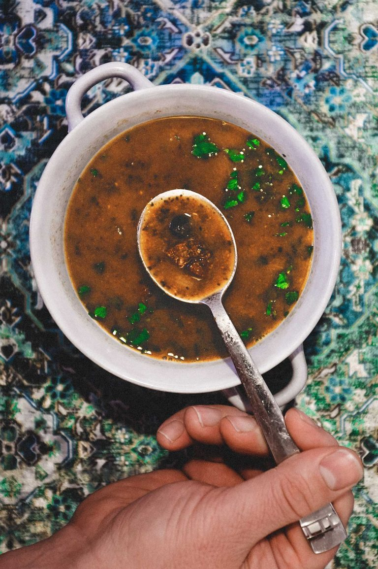 Turkish Sucuk & Black Chickpea Soup