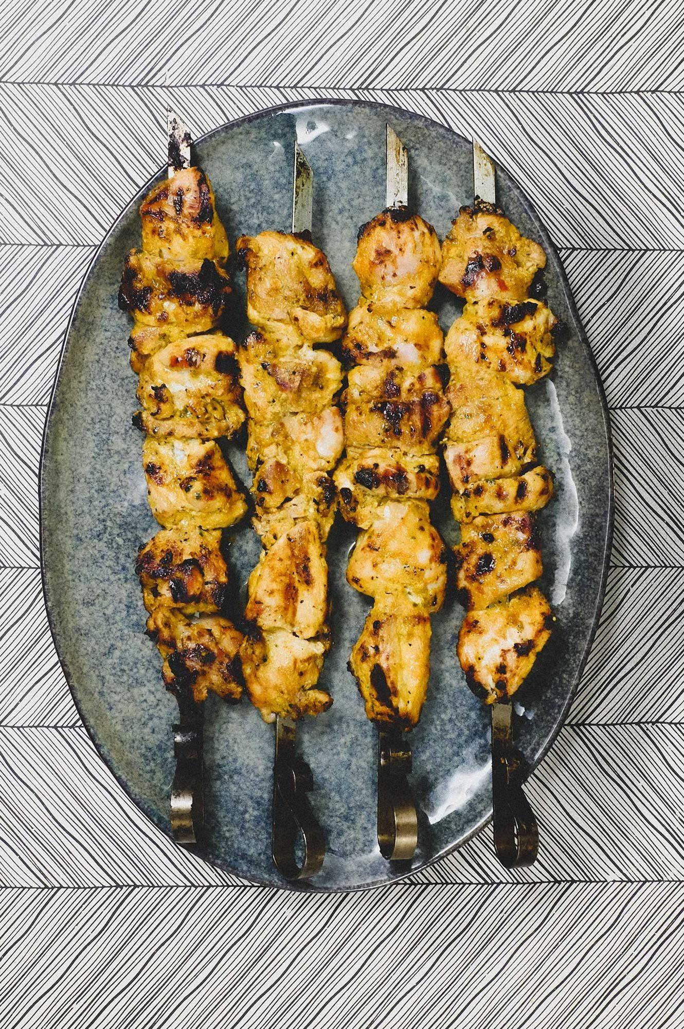 Pinchos Morunos (Spanish Chicken Skewers)