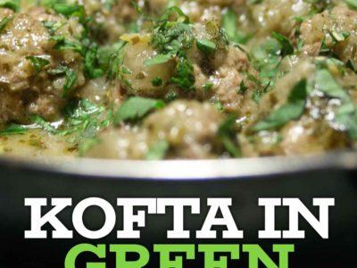 Kofta in Green Masala Sauce