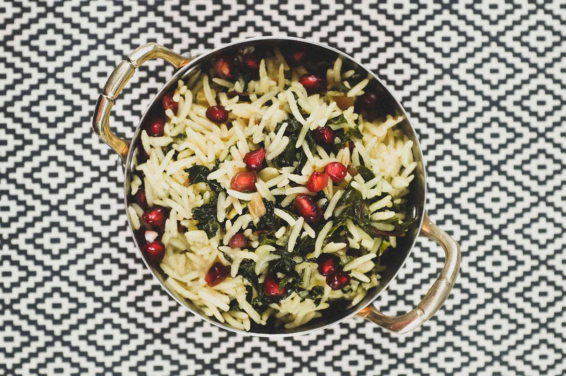Moroccan Silverbeet with Rice