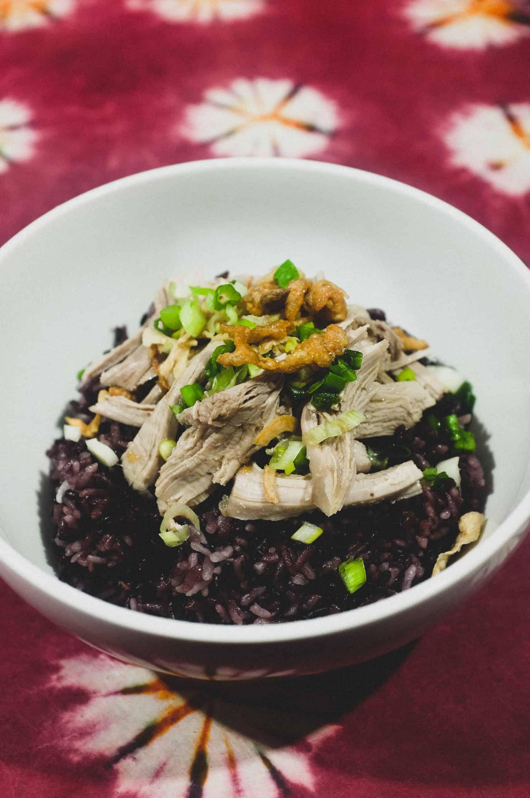 Taiwanese Turkey Rice with Forbidden Rice