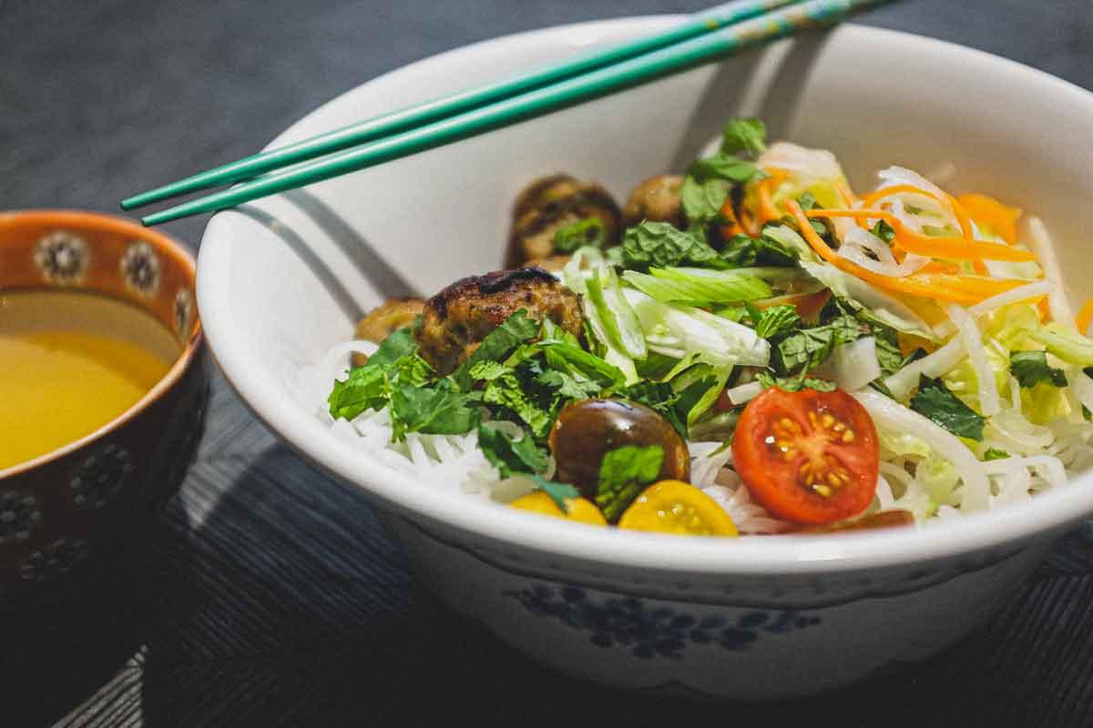 Vietnamese Bun Cha Vermicelli Salad