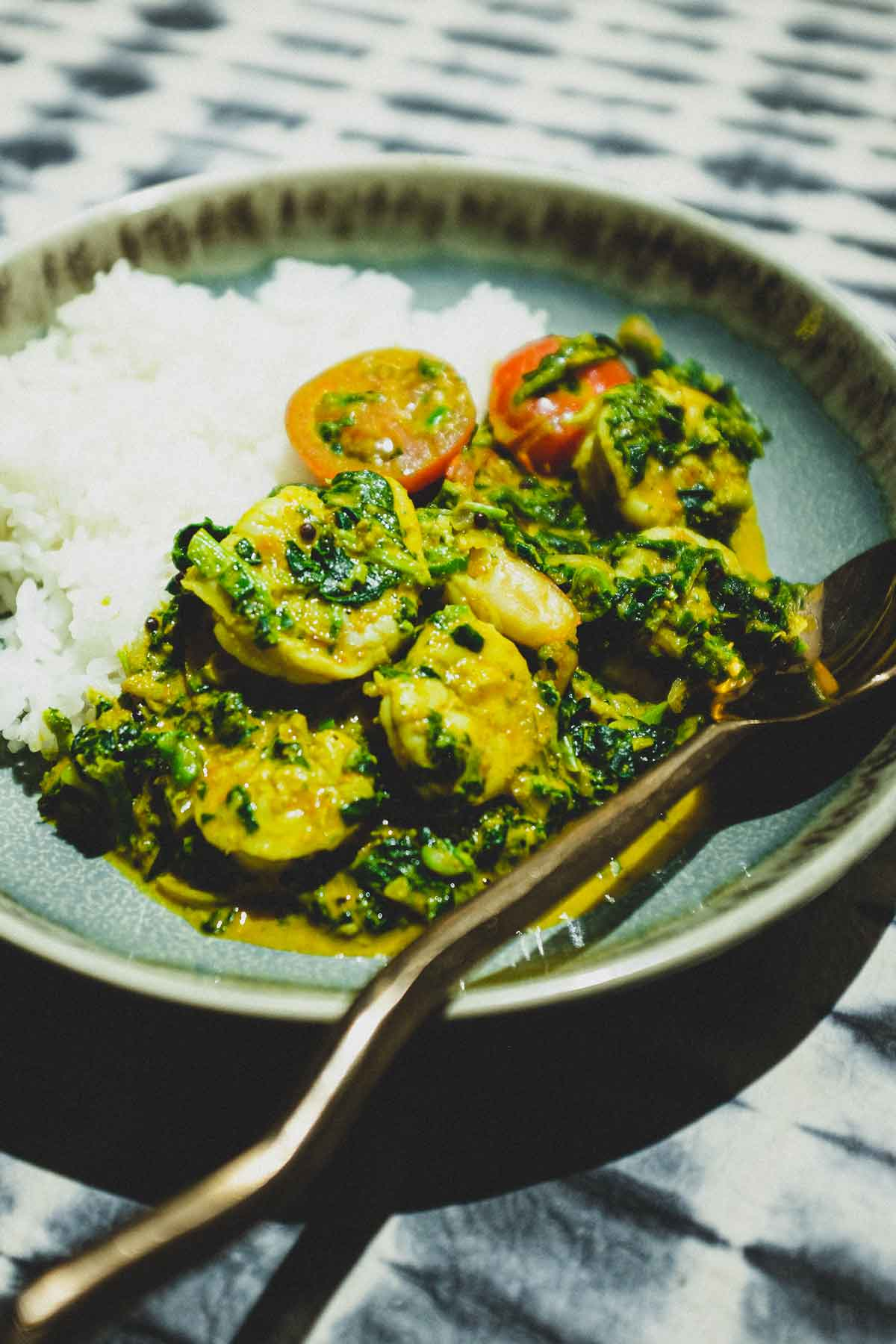 Jheenga Palak – Shrimp & Spinach Curry
