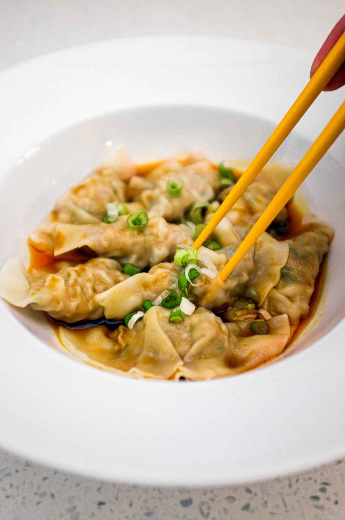 Chinese Chilli Oil Dumplings