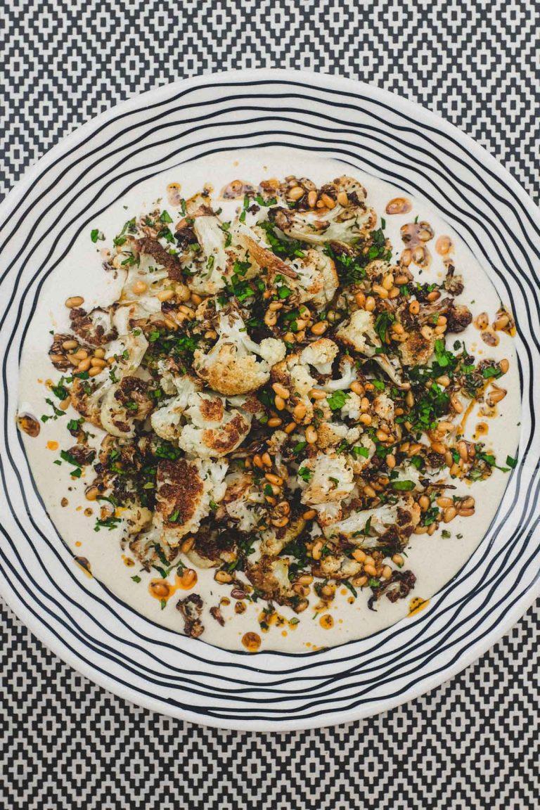 Hummus Bi Arnabeet - Hummus with Roasted Cauliflower