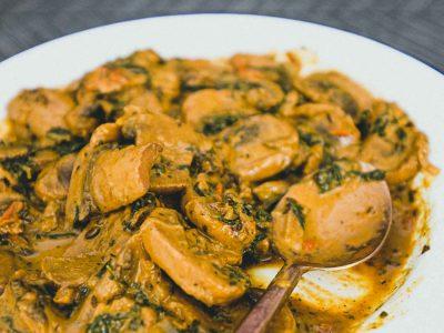 Methi Mushroom Masala | cookeatblog.com