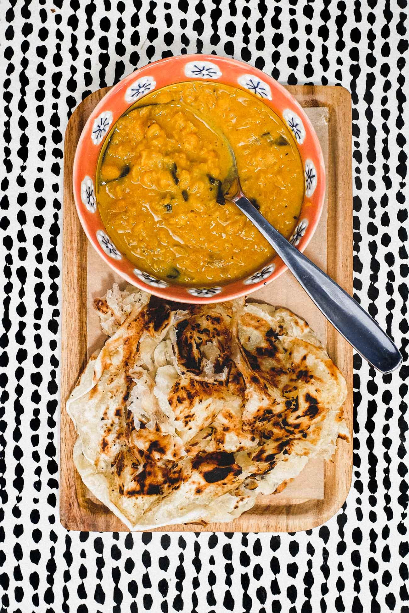 Roti Canai with Dhal