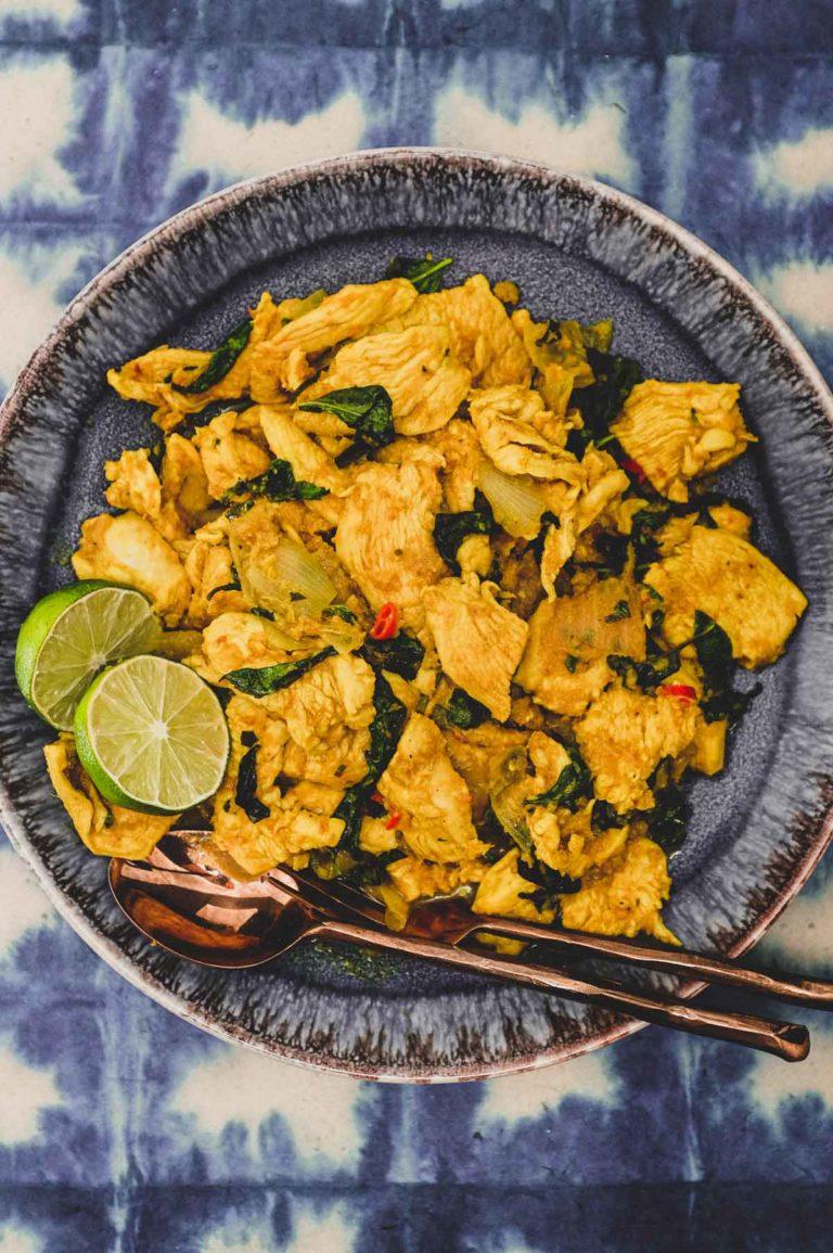 Cha Kroeung Sach Moan (Cambodian Lemongrass Chicken Stir Fry)