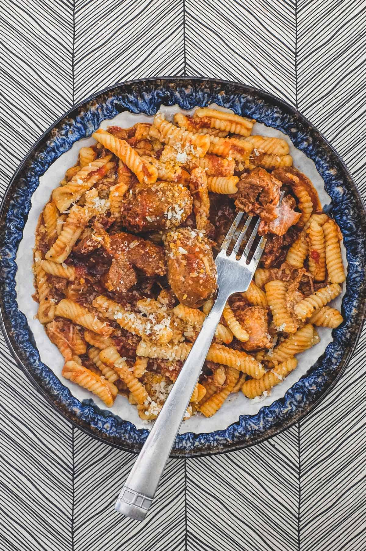 Cavatelli with Pork Ragù