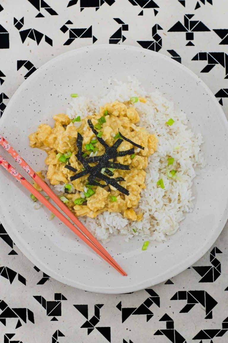 Japanese Soft Scrambled Tamago Rice Bowl