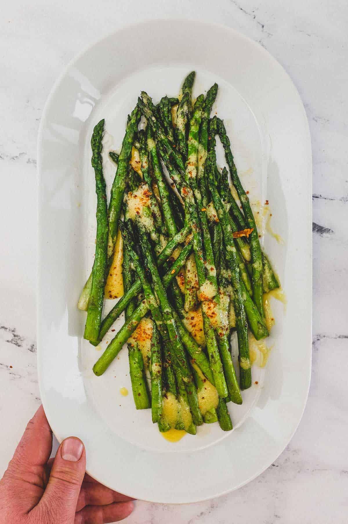 Asparagus with Dijon Mustard