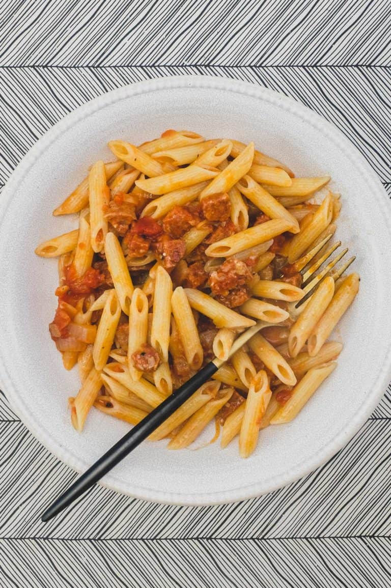 Penne with Salami