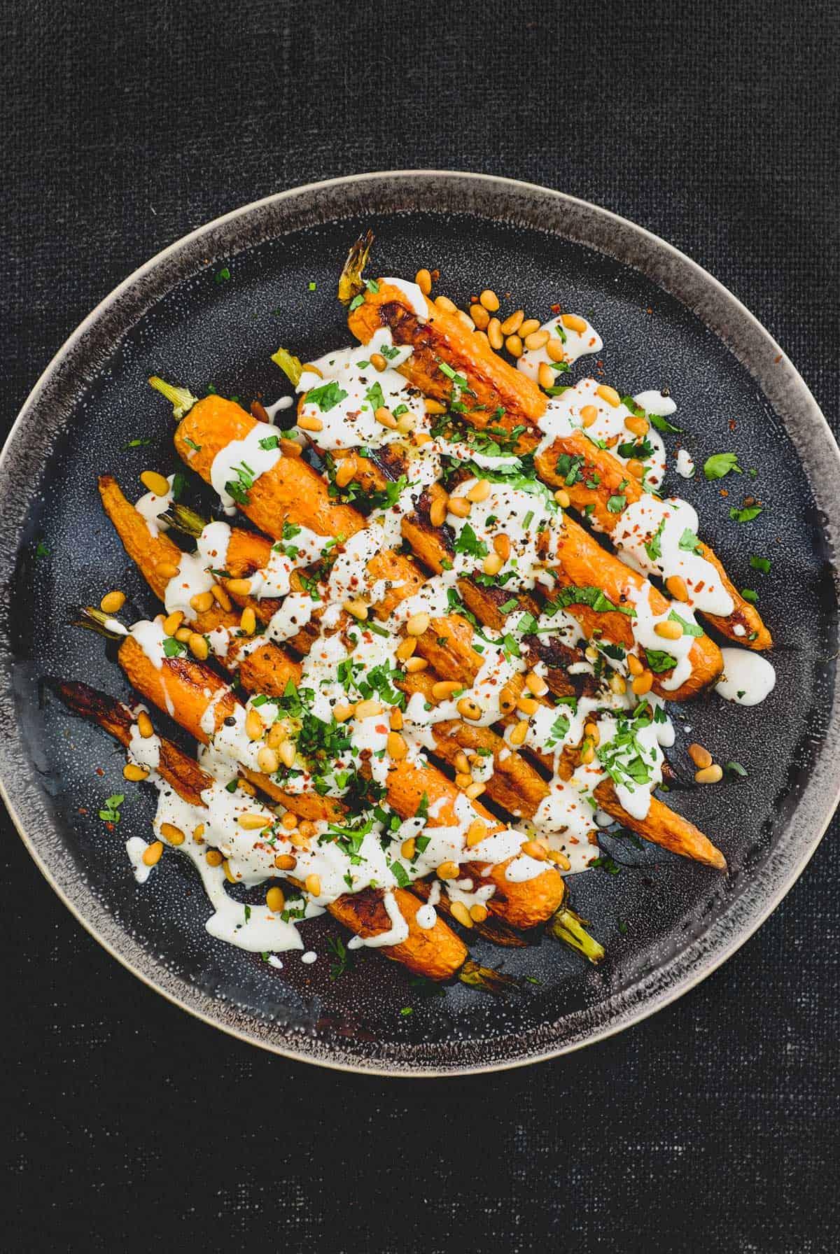 Roasted Carrot with Tahini Sauce