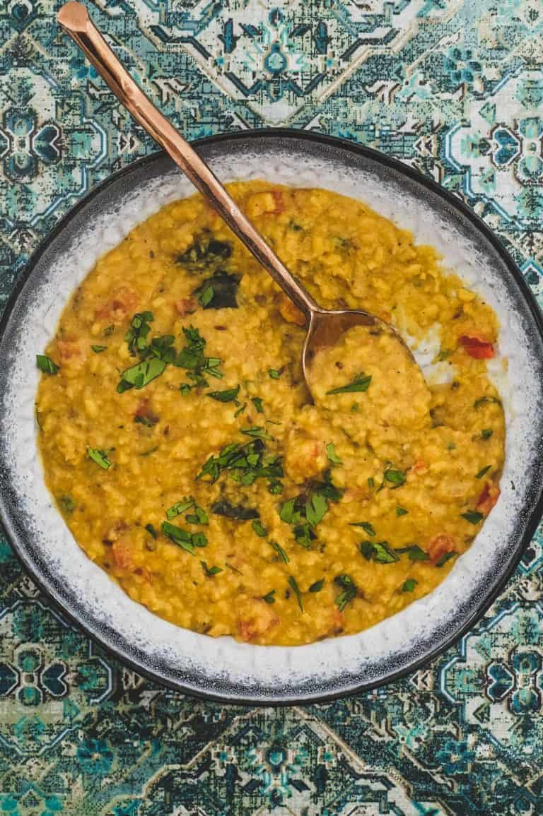 Lentils cooked in spices to make a Punjabi Shahi Daal